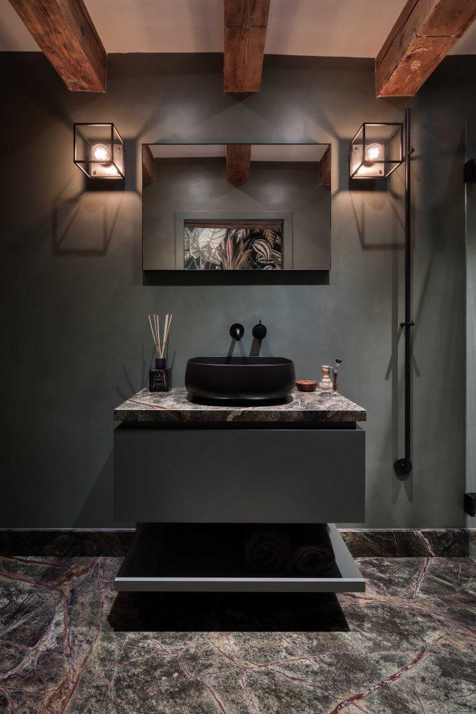 badkamer met microcement